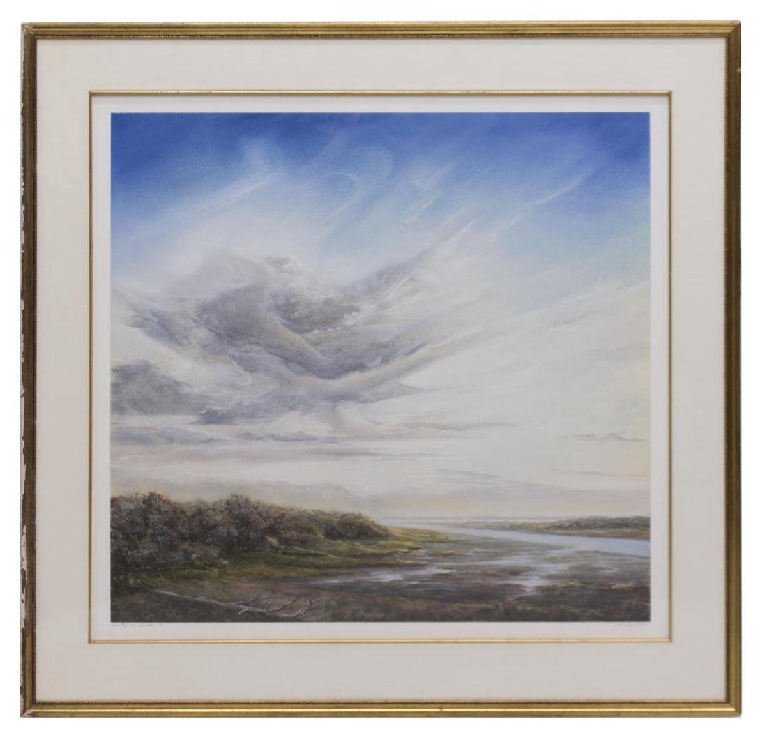WILLIAM MCWHORTER INLET LANDSCAPE PASTEL DRAWING - 2