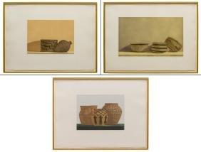 (3) STEPHEN LORBER (B. 1943) BASKET ETCHINGS