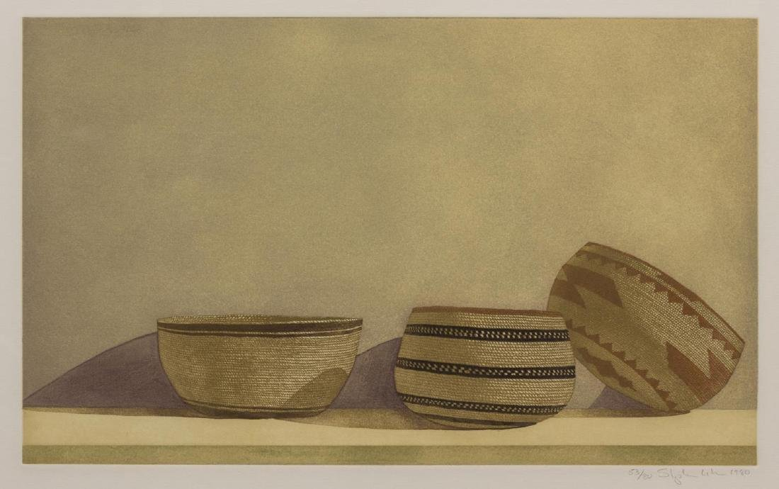 (3) STEPHEN LORBER (B. 1943) BASKET ETCHINGS - 2