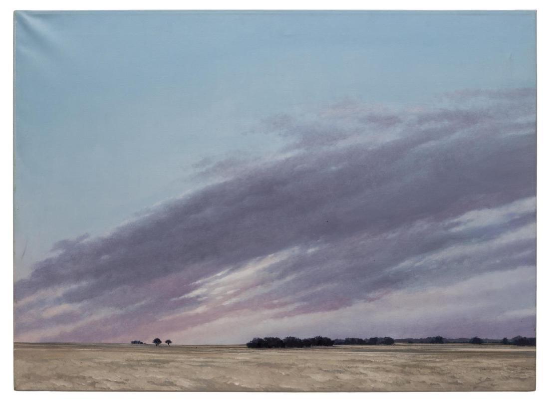 TALLIE MOORE BUSH (TEXAS 1933) WESTERN LANDSCAPE