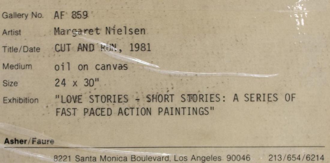 "MARGARET NIELSEN (B. 1948), ""CUT & RUN"" PAINTING - 5"