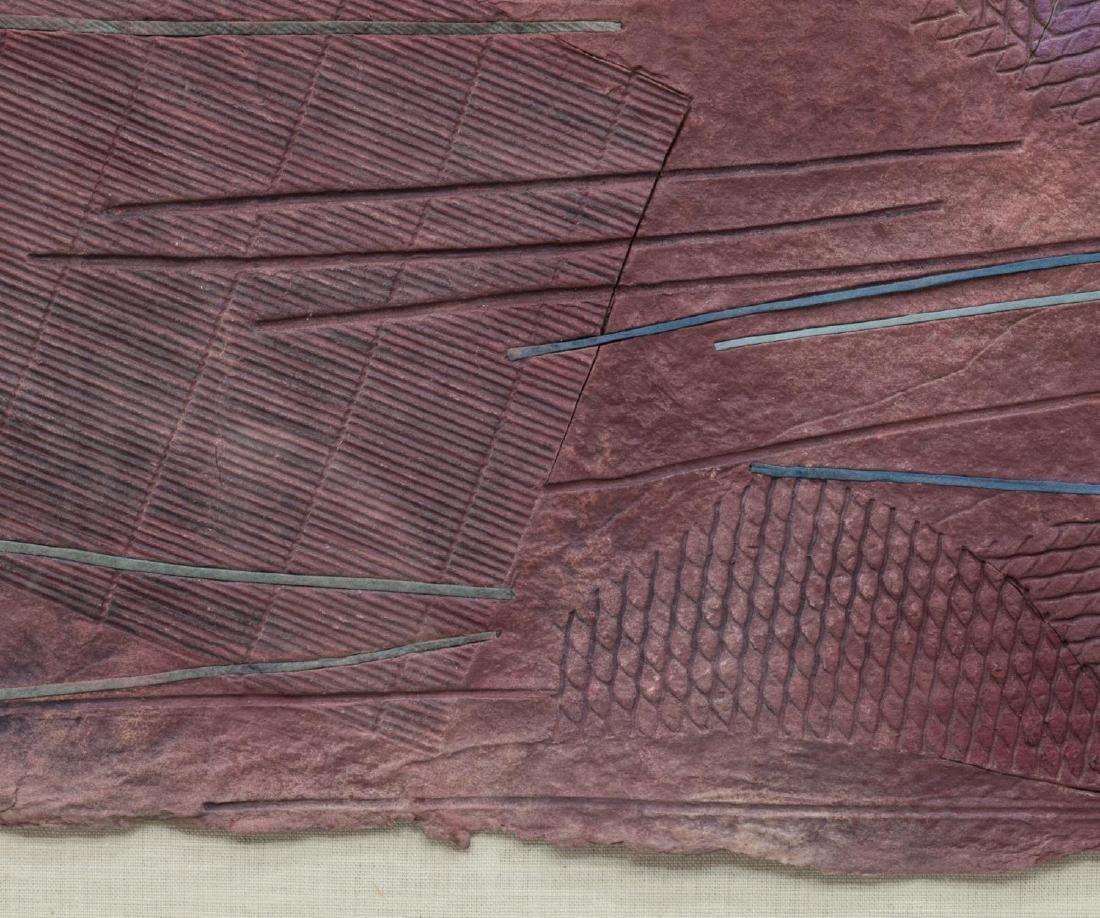FRAMED ABSTRACT PAPER ARTWORK KAREN DAVIDSON - 2