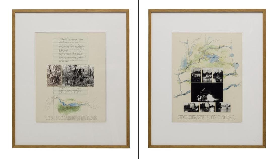 (2) ROY FRIDGE (TEXAS 1927-2007) ORIGINAL COLLAGES
