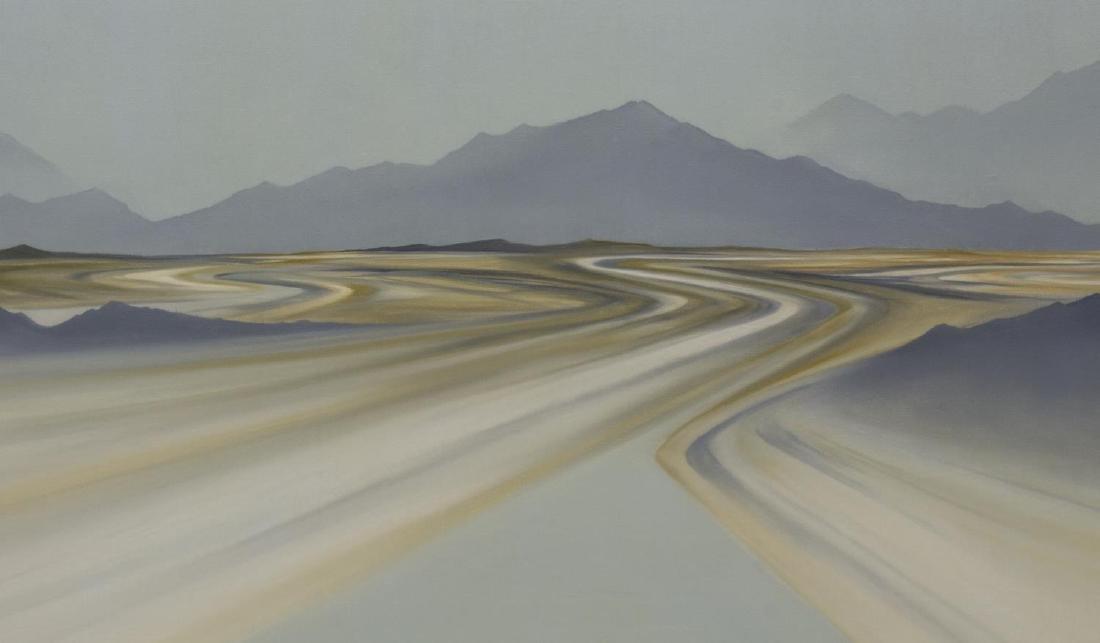 FRAMED ABSTRACT LANDSCAPE 'LANDING' ANN TAYLOR - 3