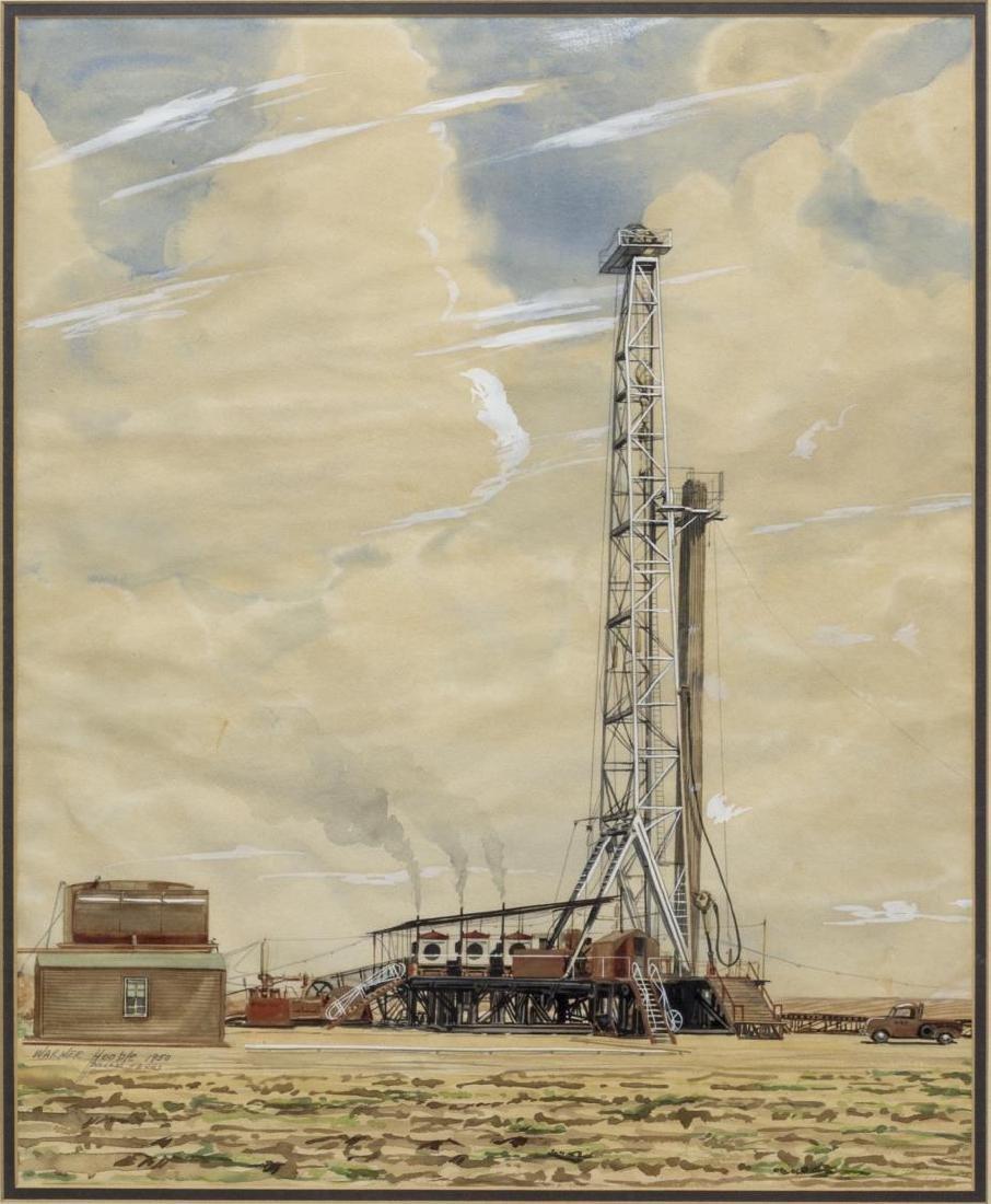 WARNER HOOPLE (TEXAS 1904-1989) OIL WELL DALLAS