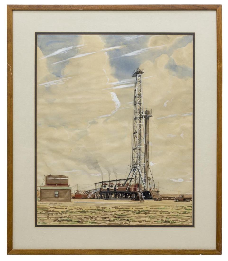 WARNER HOOPLE (TEXAS 1904-1989) OIL WELL DALLAS - 2