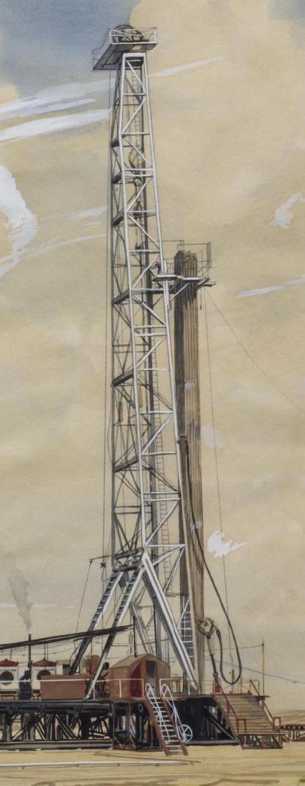 WARNER HOOPLE (TEXAS 1904-1989) OIL WELL DALLAS - 3