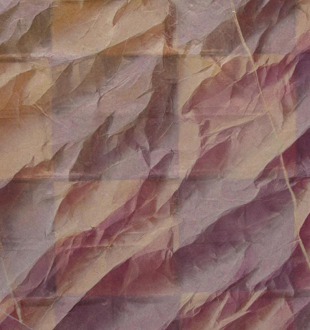 FRAMED CHALK PASTEL ON FOLDED PAPER, SIGNED NANCEE - 2