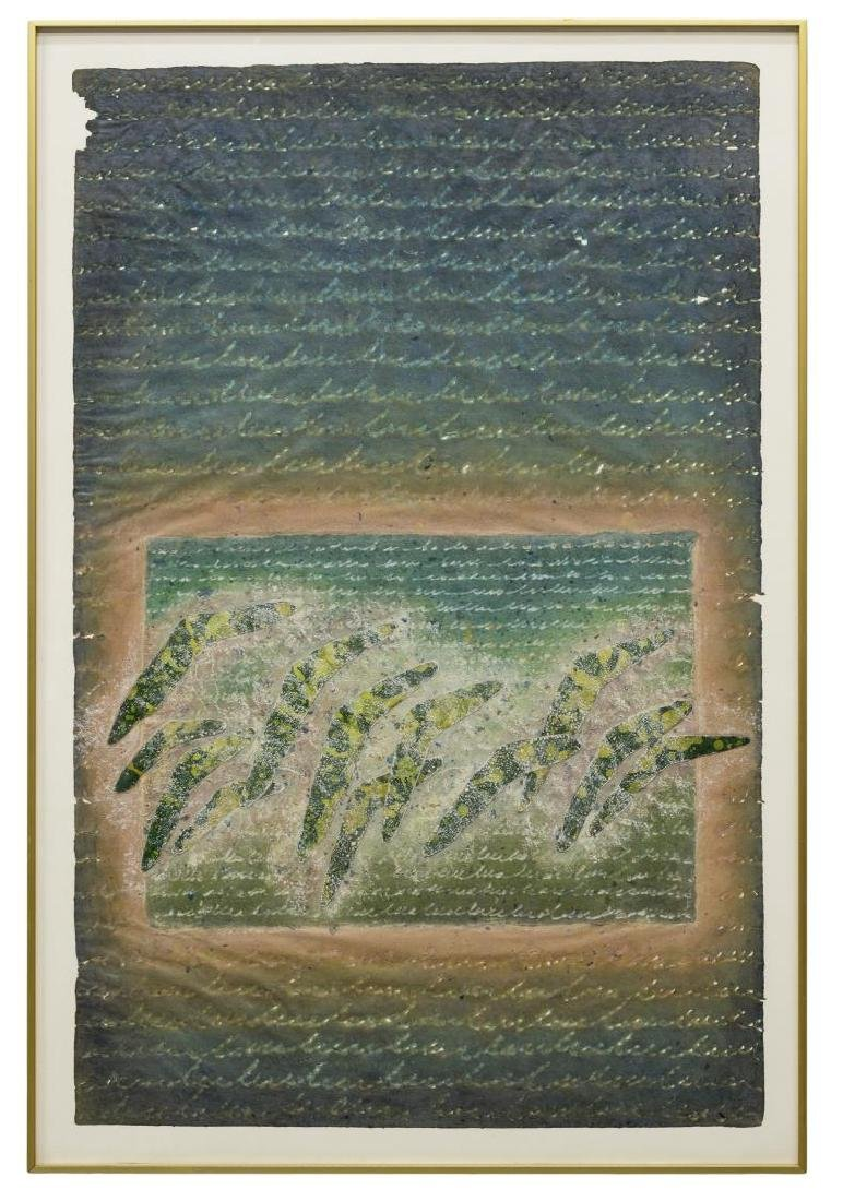 FRAMED PAPER COLLAGE ARTWORK, JAN DENISE PIERCE