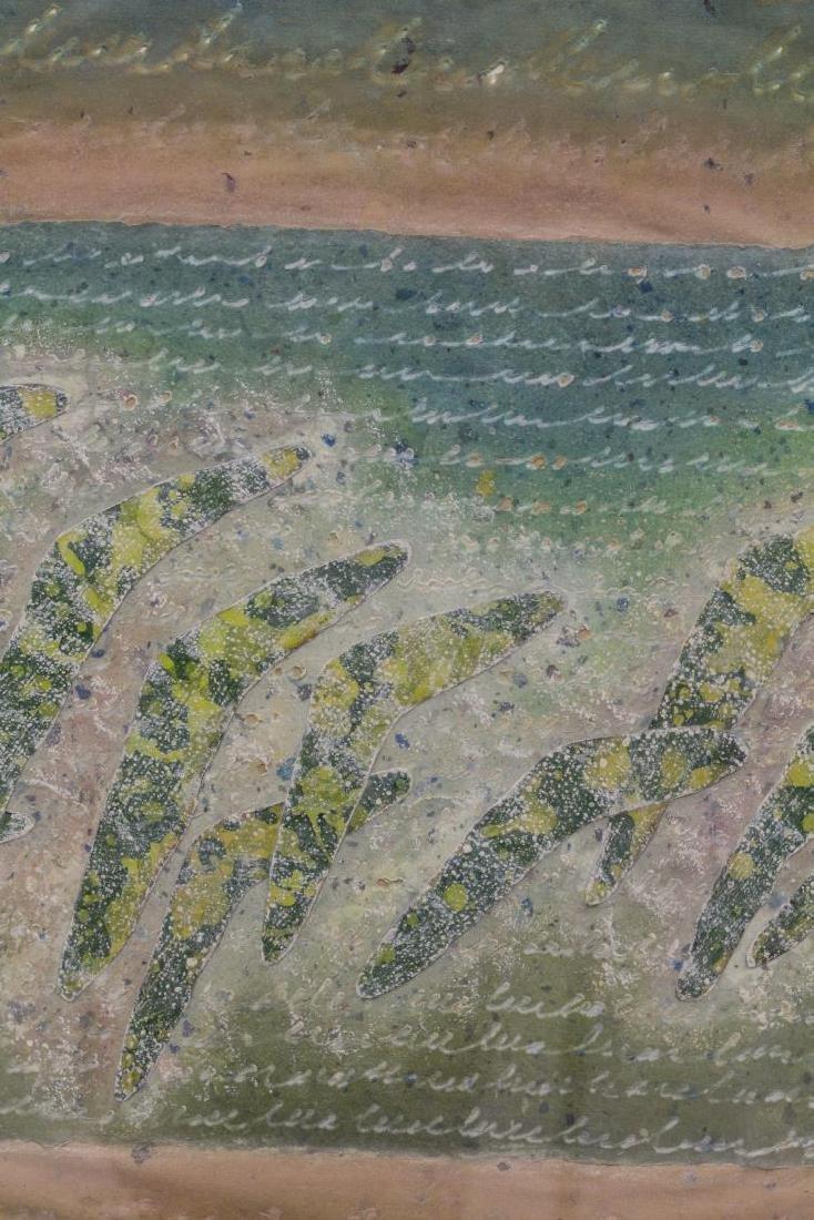 FRAMED PAPER COLLAGE ARTWORK, JAN DENISE PIERCE - 2