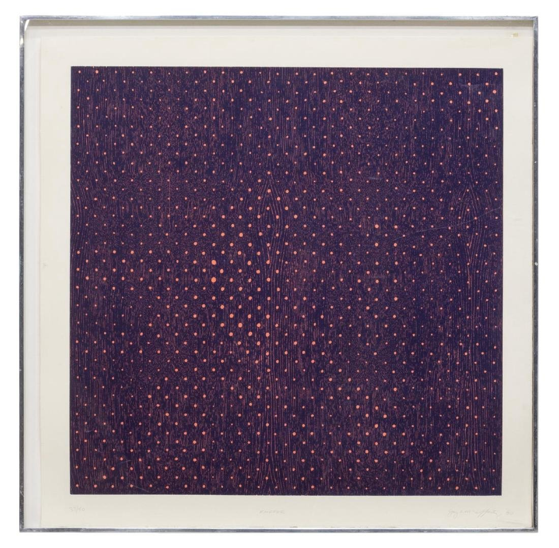 JAY MCCAFFERTY (1948), WOODBLOCK PRINT, POLKA DOTS