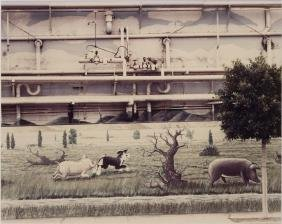 FRAMED COLOR PHOTOGRAPH, 'FARMER JOHNS VERNON CA'