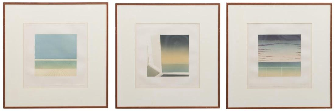 (3) FRAMED JEAN SOLOMBRE (B. 1948) COLOR MONOTYPES