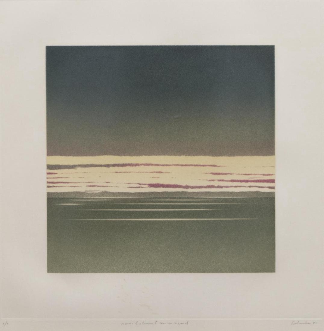 (2) JEAN SOLOMBRE (B. 1948) COLOR MONOTYPES - 2