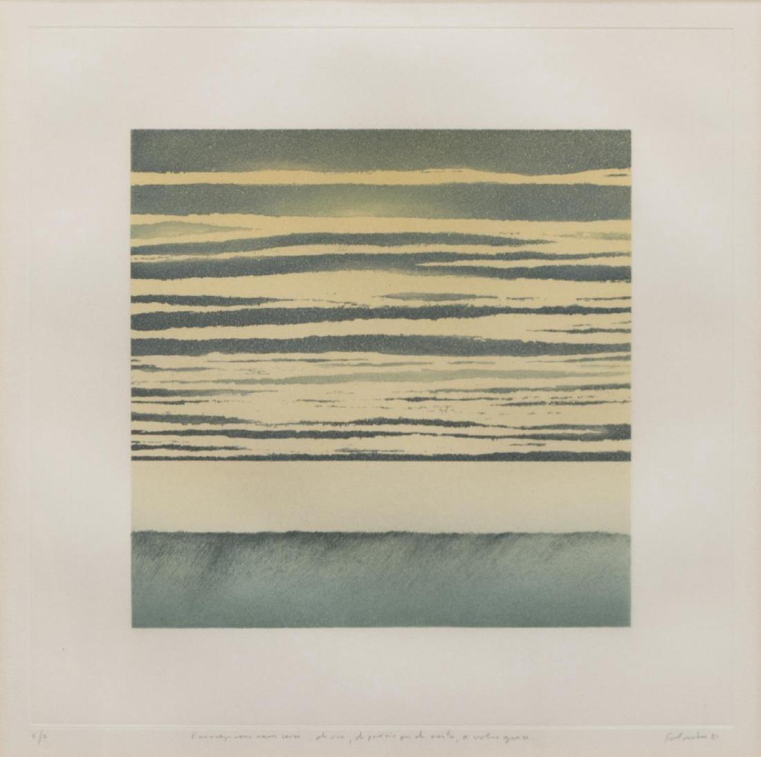 (2) JEAN SOLOMBRE (B. 1948) COLOR MONOTYPES - 4