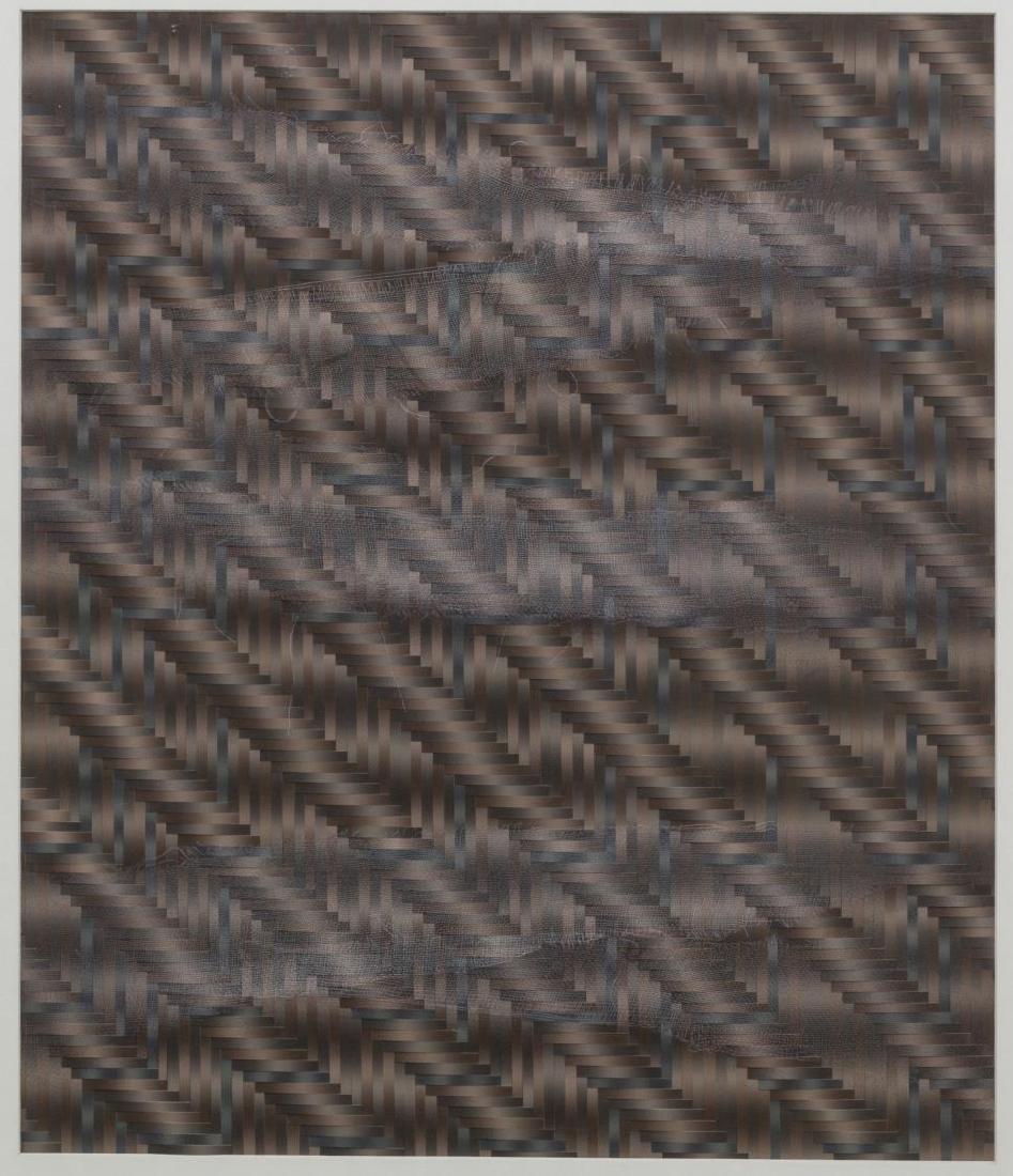 (2) FRAMED ARTWORK, DAVID MINTZER & WOVEN PAPER - 2