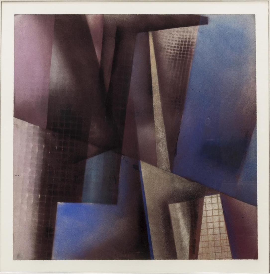 (2) FRAMED ARTWORK, DAVID MINTZER & WOVEN PAPER - 3