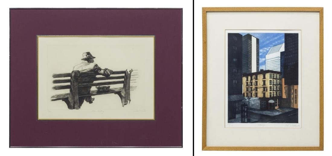 (2) FRAMED ETCHINGS, GALLAGHER & HARRY MCCORMICK