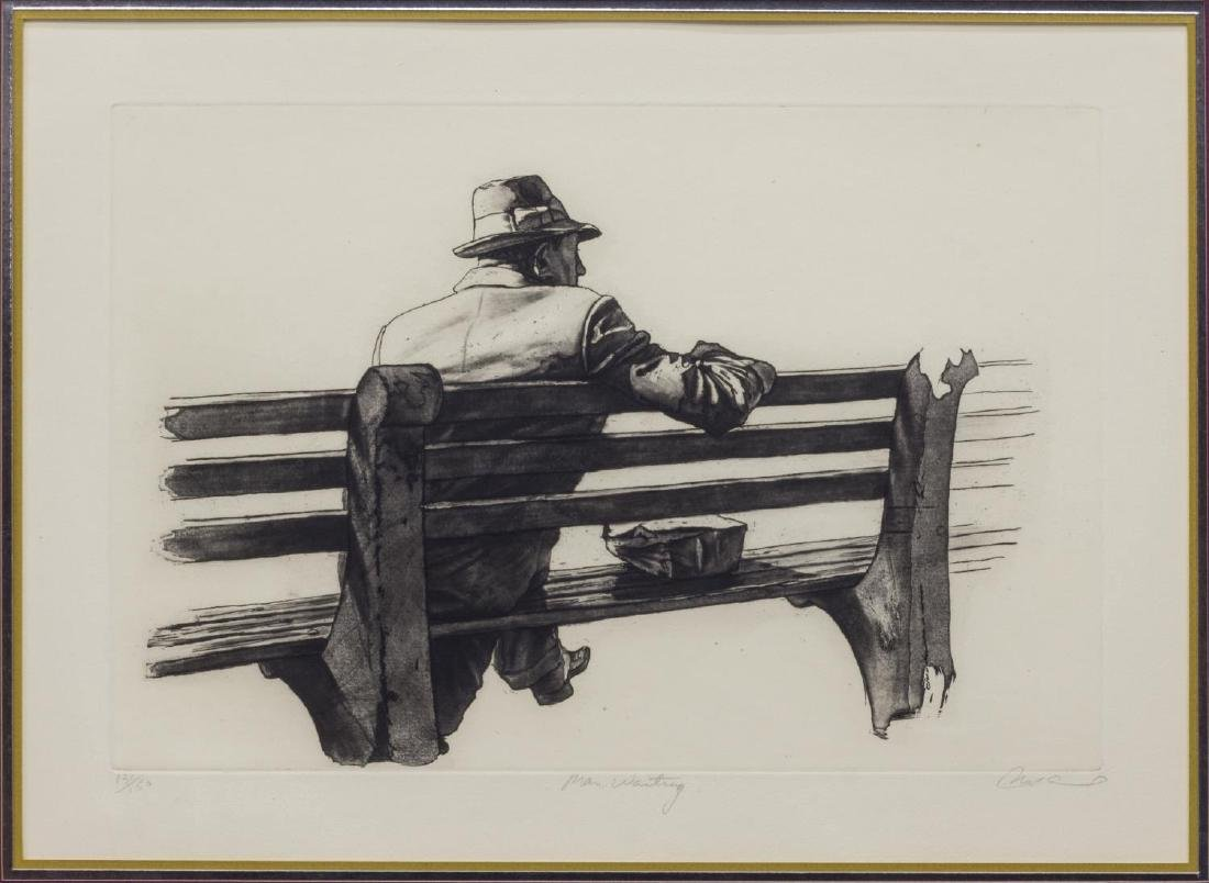 (2) FRAMED ETCHINGS, GALLAGHER & HARRY MCCORMICK - 2