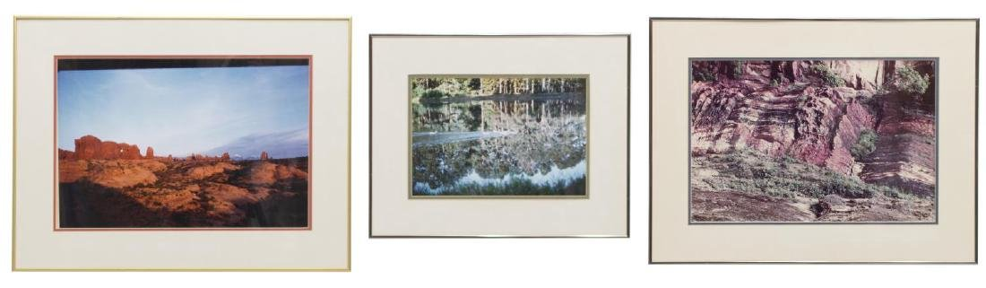 (3) FRAMED LANDSCAPE & WATERSIDE PHOTO PRINTS