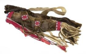 REPRODUCTION SIOUX OR CROW BEADED BOWCASE