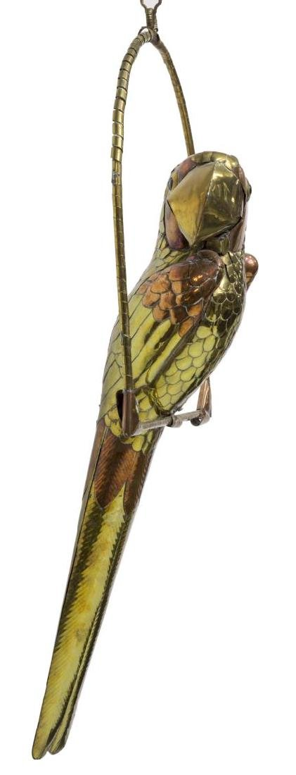 COPPER & BRASS PARROT, ATTRIB. SERGIO BUSTAMANTE - 2