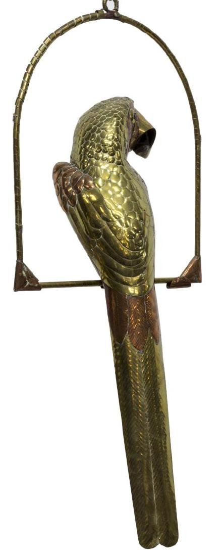 COPPER & BRASS PARROT, ATTRIB. SERGIO BUSTAMANTE - 3