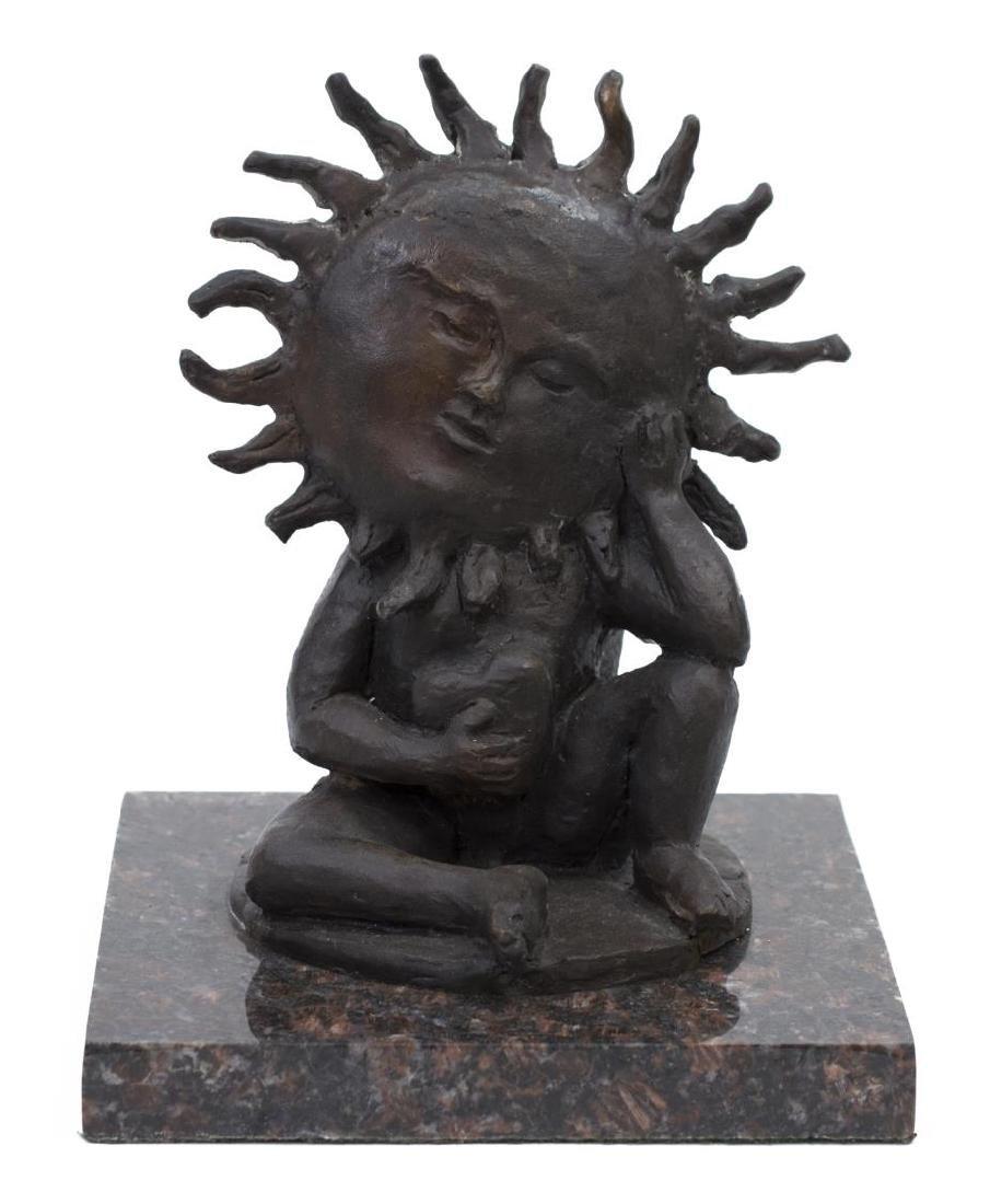 SERGIO BUSTAMANTE (MEXICO B. 1942) BRONZE SUN