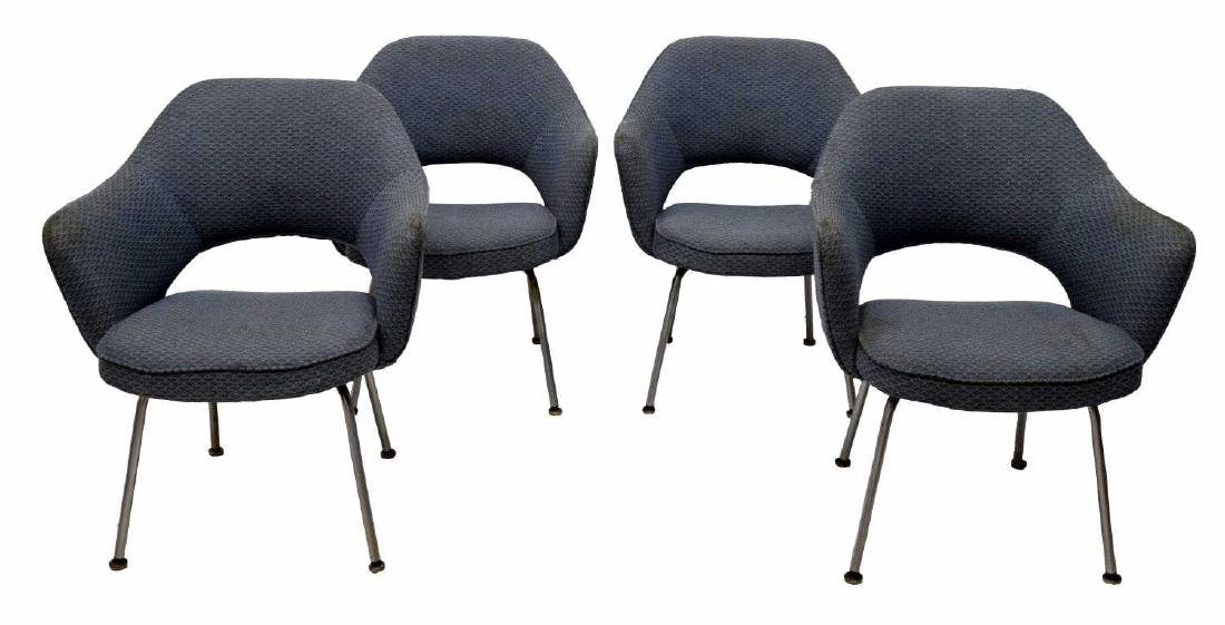 (4) ARM CHIARS BY EERO SAARINEN FOR KNOLL, MOD. 71