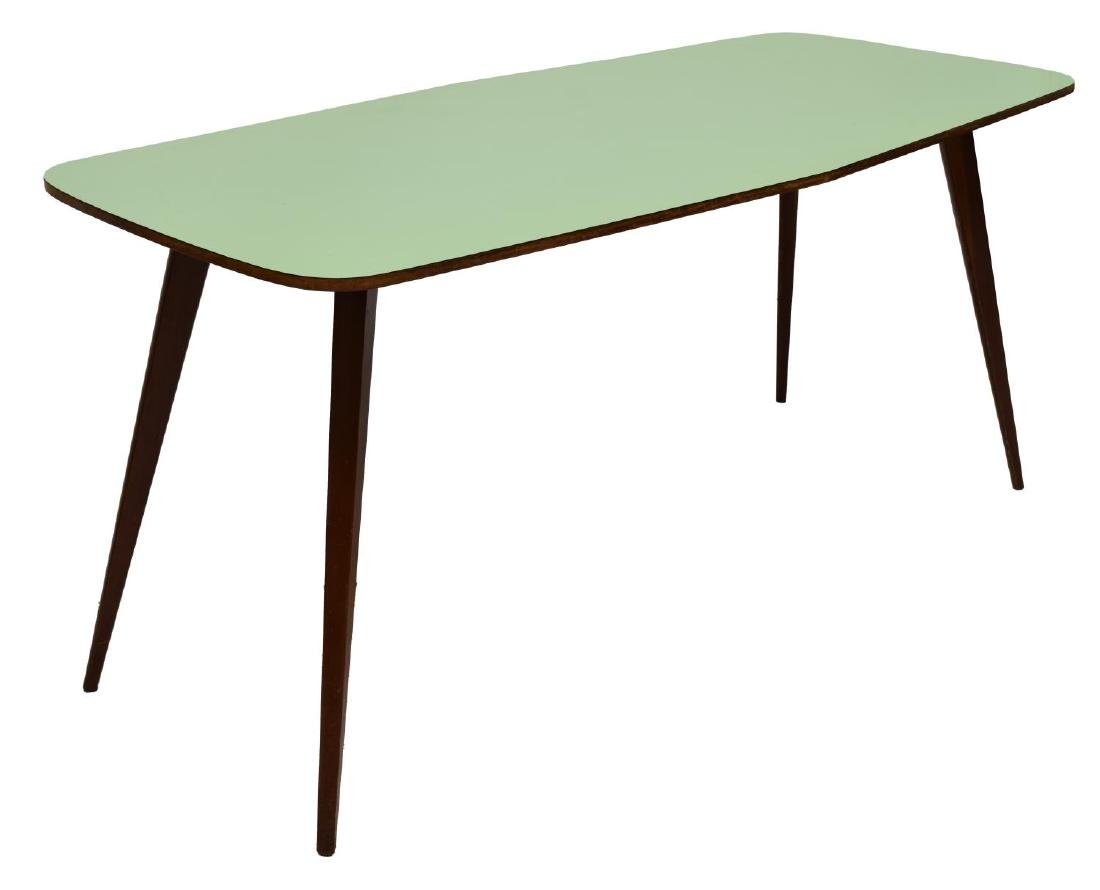 ITALIAN MID-CENTURY MODERN LAMINATED DINING TABLE