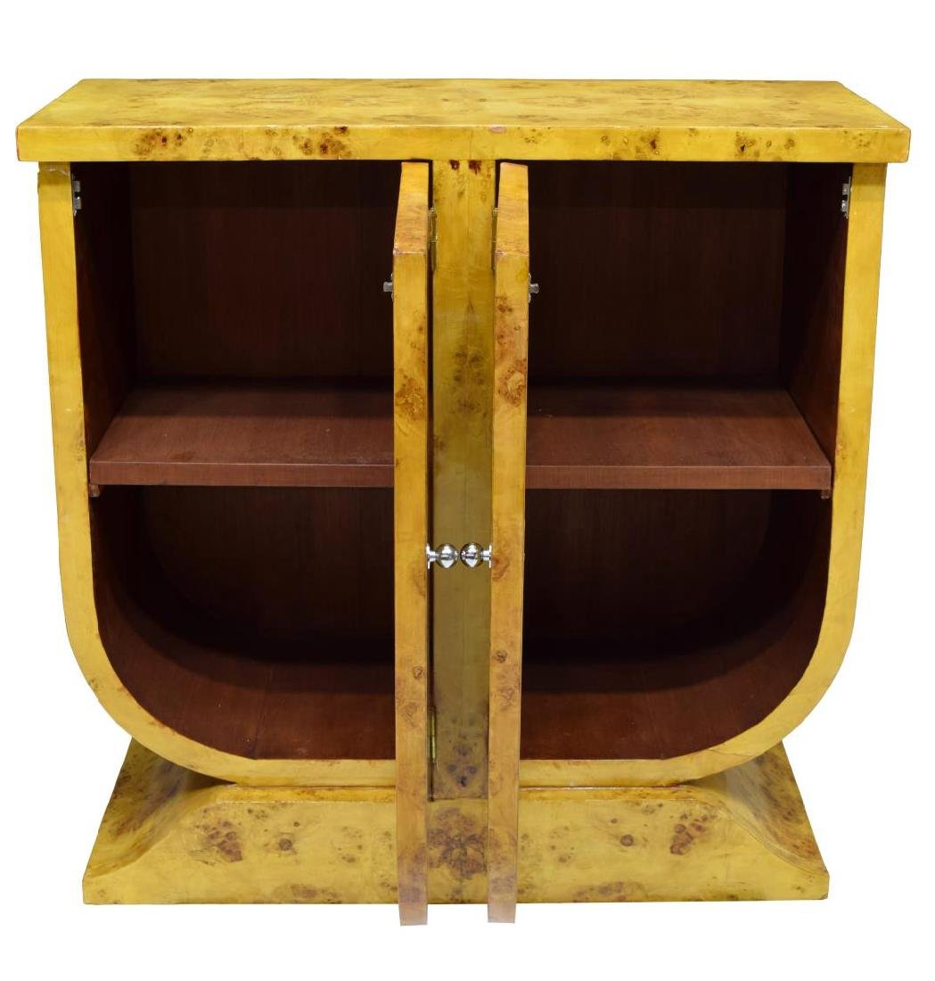 FRENCH ART DECO STYLE BIRDS EYE MAPLE CABINET - 3