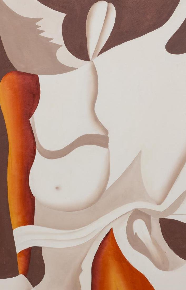 UNFRAMED PAINTING, ABSTRACT FEMALE NUDE FIGURE - 2