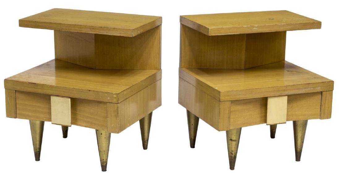 (2) MID-CENTURY MODERN BEDSIDE CABINETS