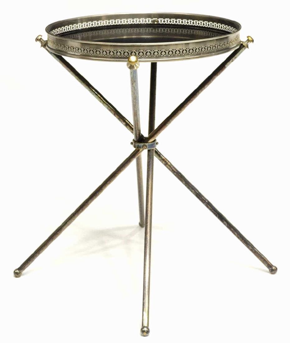 ITALIAN MID CENTURY MODERN METAL SIDE TABLE