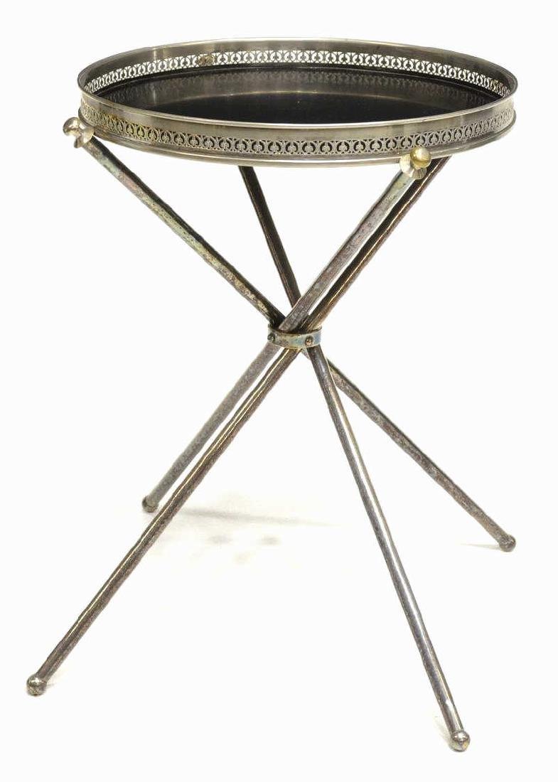 ITALIAN MID CENTURY MODERN METAL SIDE TABLE - 2