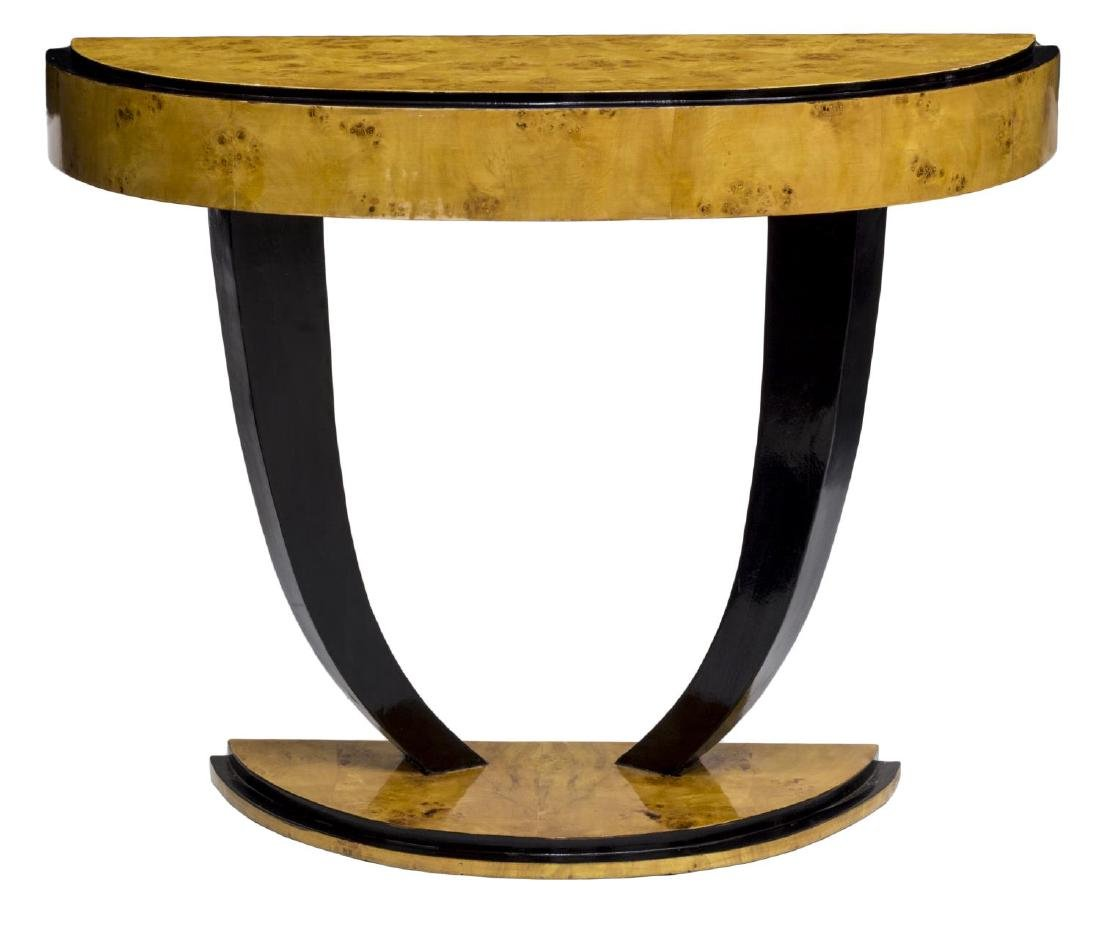 FRENCH DECO STYLE BIRDS EYE MAPLE CONSOLE TABLE - 2