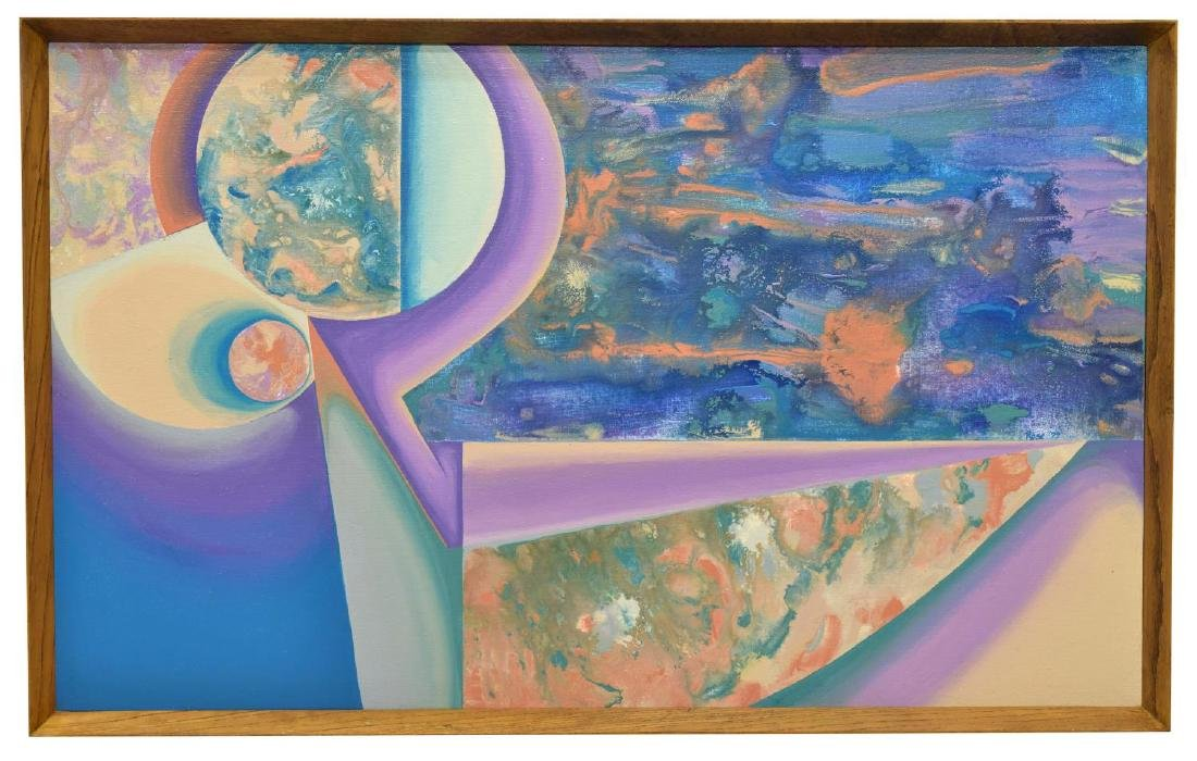 CAROL F. ROSE PAINTING, COMPOSITION II, ON CANVAS