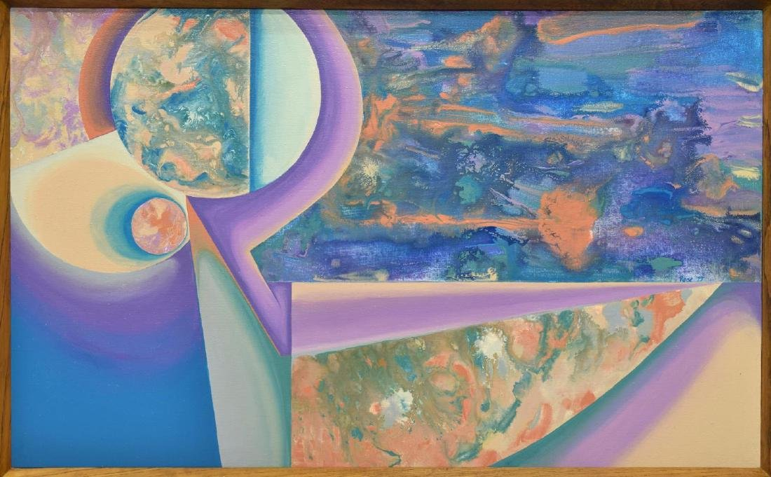 CAROL F. ROSE PAINTING, COMPOSITION II, ON CANVAS - 2