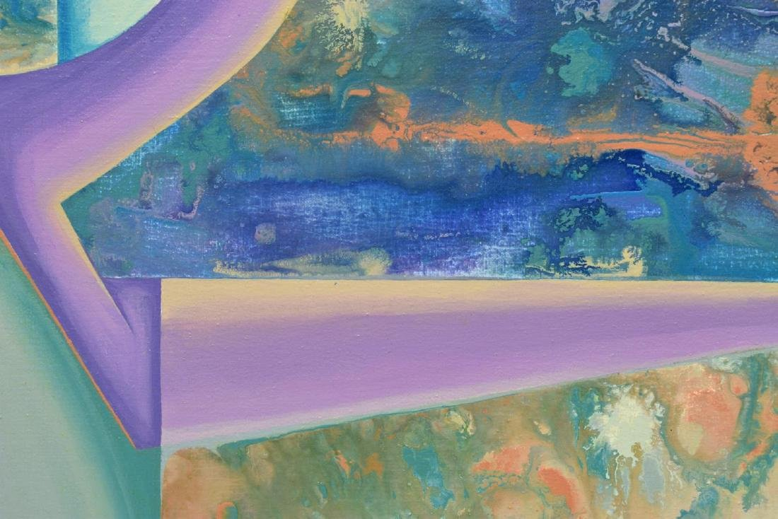 CAROL F. ROSE PAINTING, COMPOSITION II, ON CANVAS - 3