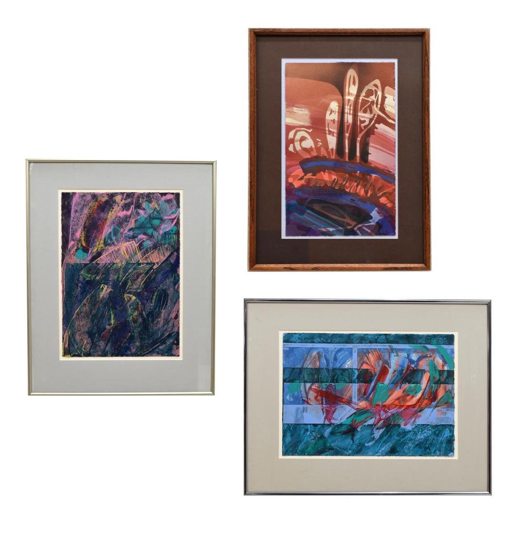 (3) CAROL F. ROSE MODERN ABSTRACT WORKS ON PAPER