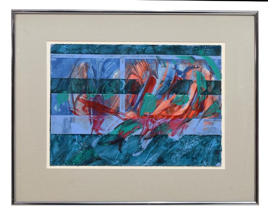 (3) CAROL F. ROSE MODERN ABSTRACT WORKS ON PAPER - 2