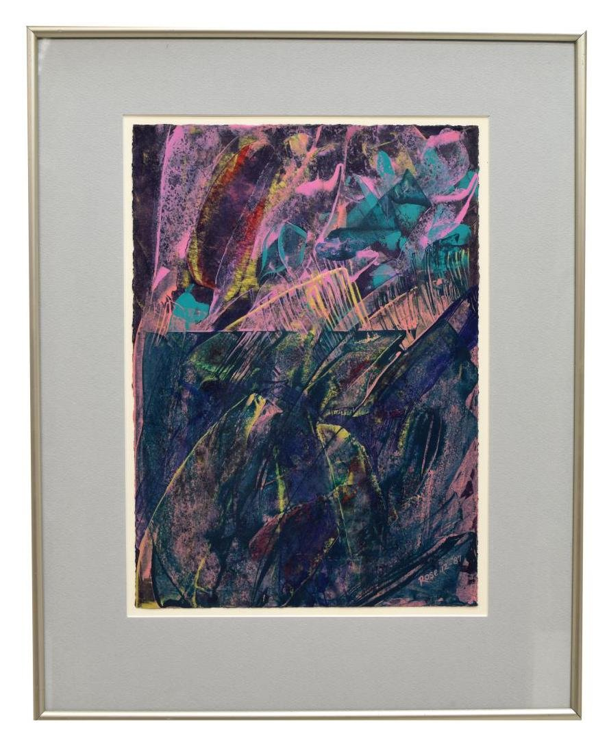 (3) CAROL F. ROSE MODERN ABSTRACT WORKS ON PAPER - 4