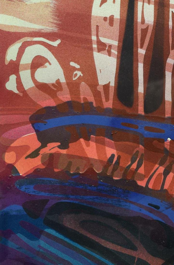 (3) CAROL F. ROSE MODERN ABSTRACT WORKS ON PAPER - 7