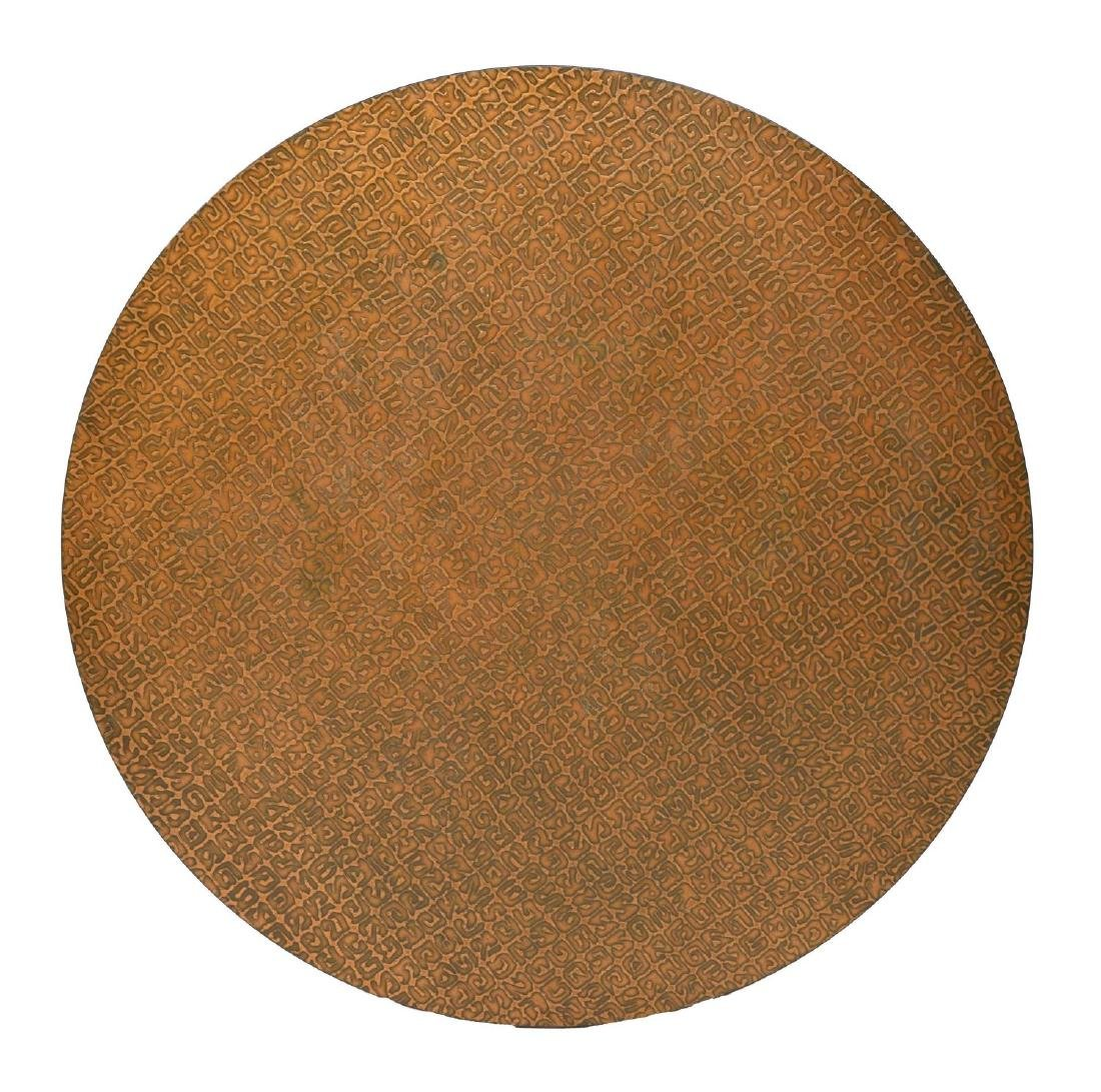 CHROMCRAFT COPPER LAMINATED CIRCULAR TABLE TOP
