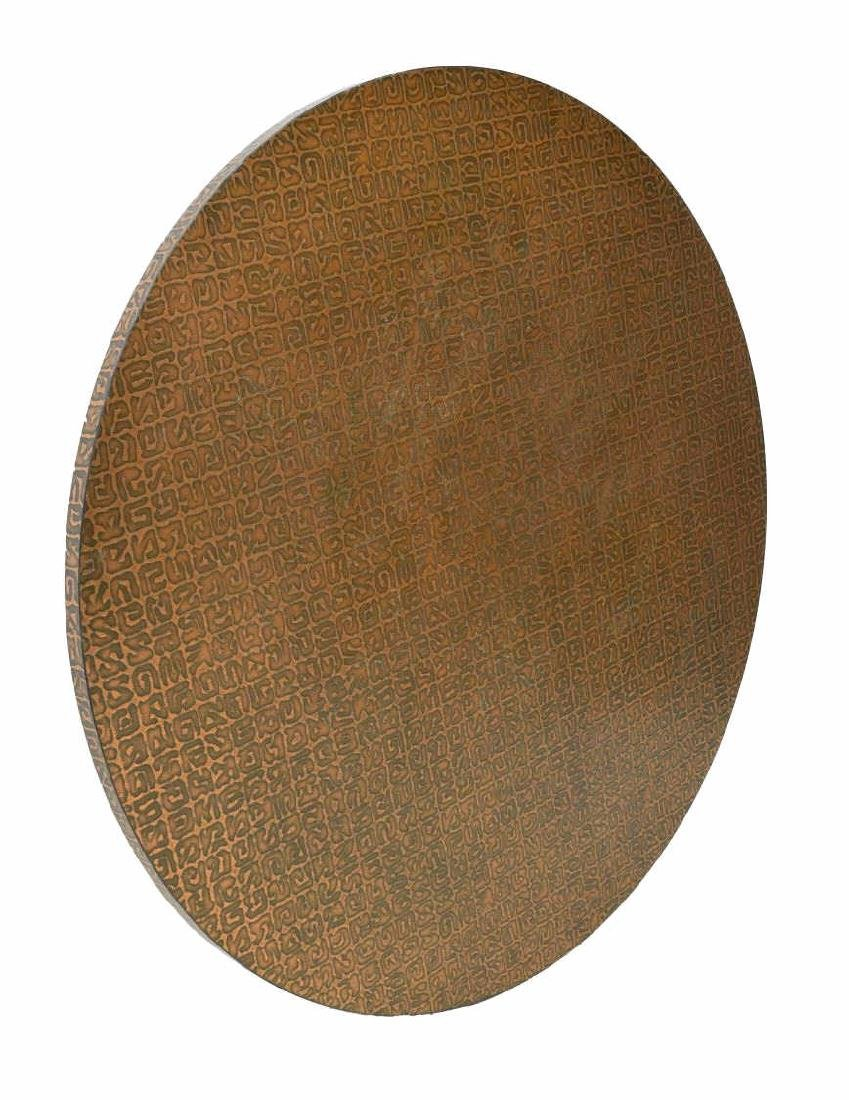 CHROMCRAFT COPPER LAMINATED CIRCULAR TABLE TOP - 2