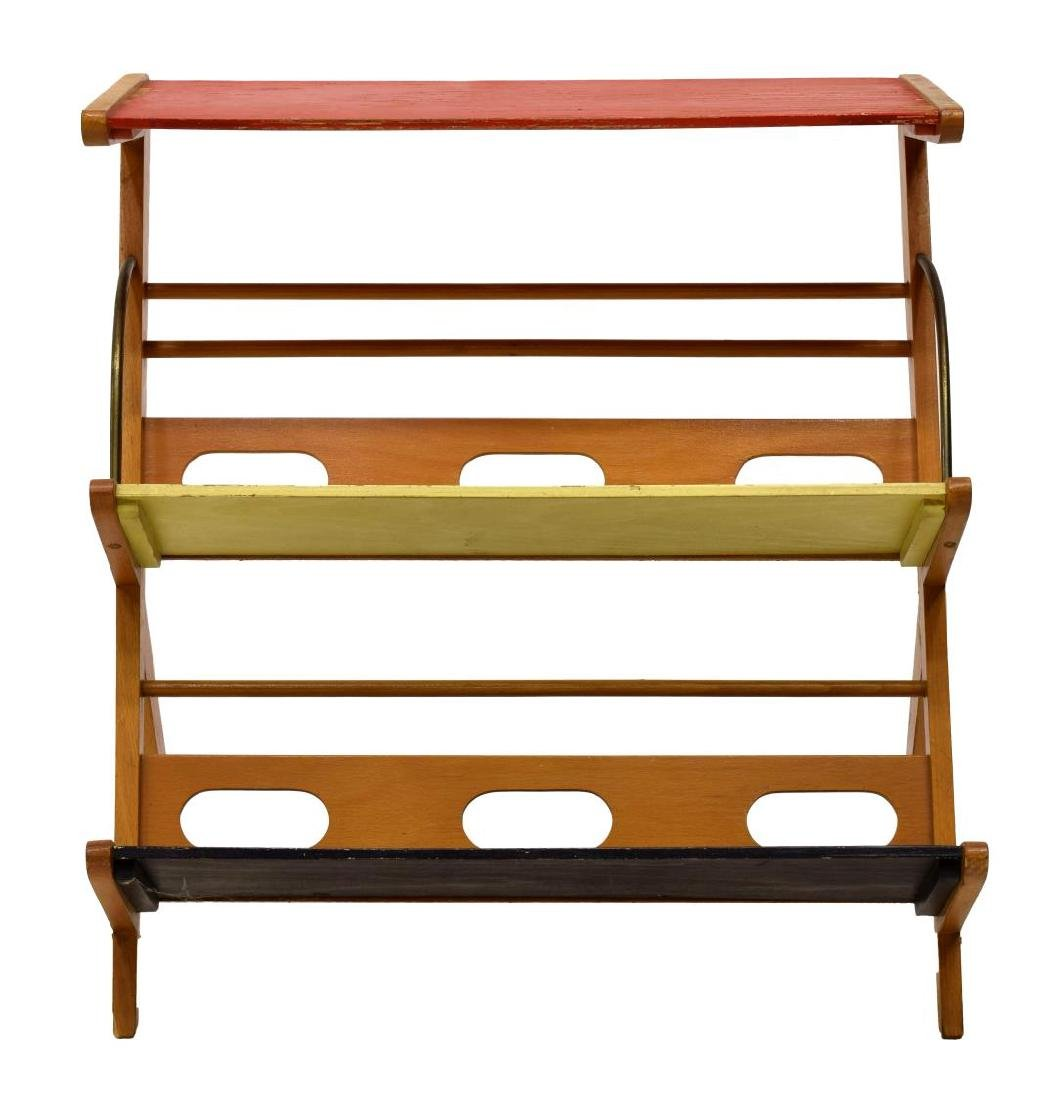 MID-CENTURY MODERN FRENCH MAGAZINE RACK - 2