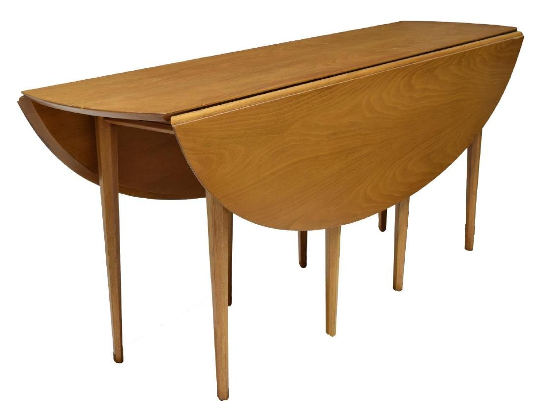 """EDWARD WORMLEY DUNBAR 72""""L DROP LEAF TABLE"""