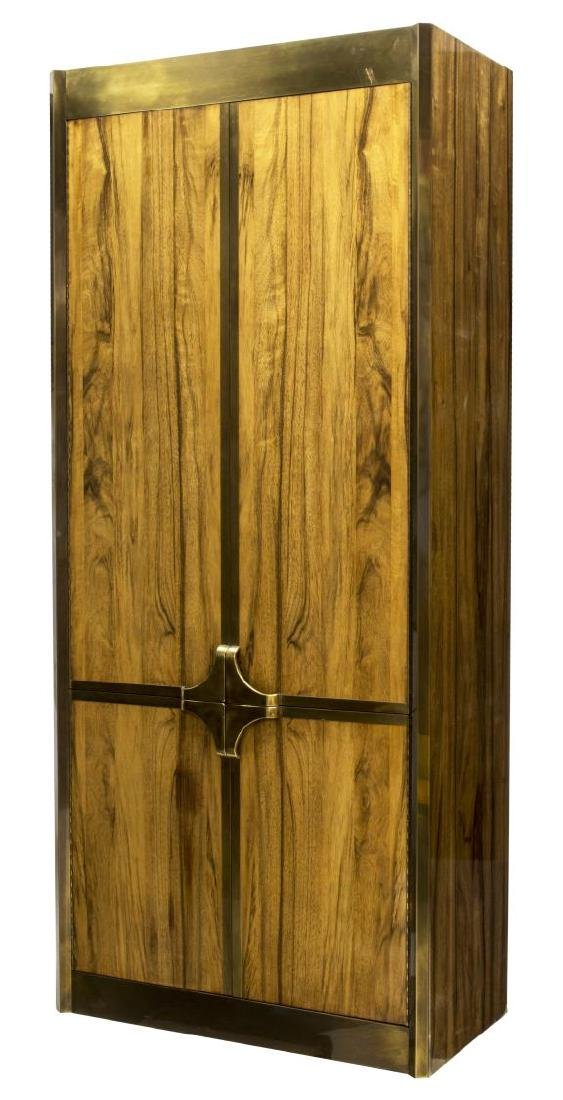 MASTERCRAFT BRASS & ROSEWOOD FOUR DOOR CABINET