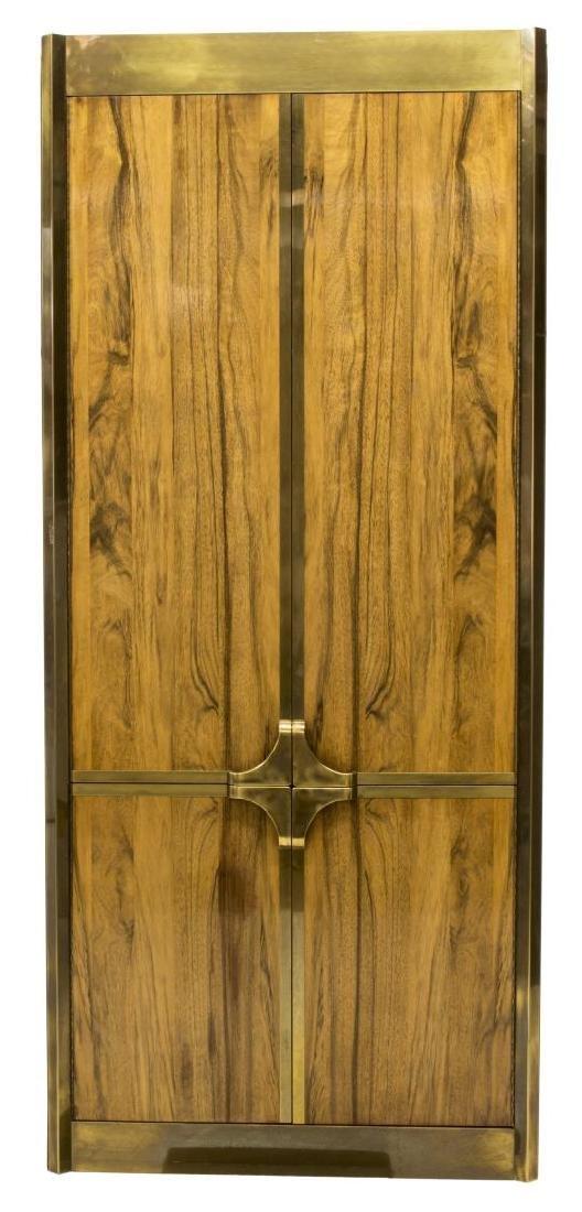 MASTERCRAFT BRASS & ROSEWOOD FOUR DOOR CABINET - 2