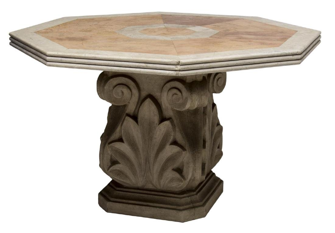 OCTAGONAL STONE TOP TABLE